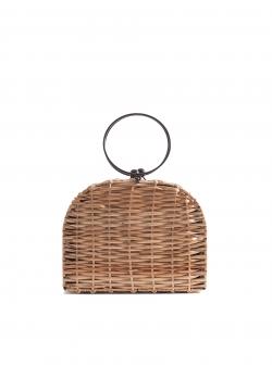 Espresso Wicker Bag Short Vilegiatura