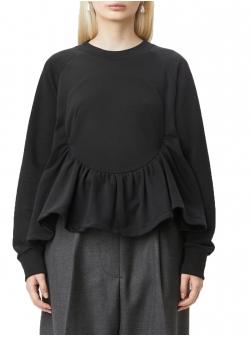 Sweatshirt negru cu detaliu cerc Tribe Ioana Ciolacu
