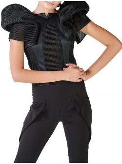 Structured asymmetric top Florentina Giol