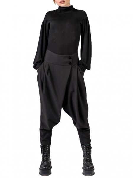 Bluza neagra cu maneci bufante Florentina Giol