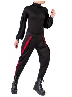 Pantaloni cu aplicatie contrastanta Florentina Giol