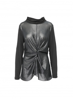 Metallic black blouse Larisa Dragna