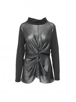 Bluza neagra din material lucios Larisa Dragna