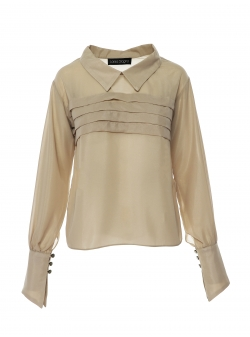 Beige shirt with creases Larisa Dragna