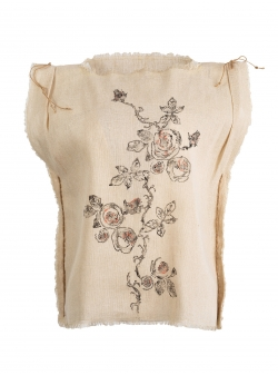 Top din canepa cu imprimeu floral Nicoleta Obis