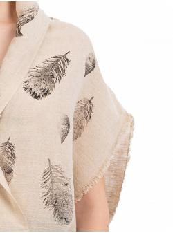 Kimono din canepa cu imprimeu Nicoleta Obis
