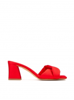 Red satin sandals Ginissima