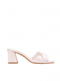 White satin sandals Ginissima