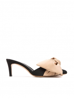 Black shoes with oversized bow Ginissima