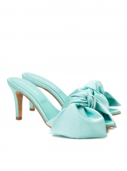 Blue satin sandals Ginissima