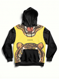 Black hoodie with front print MySimplicated