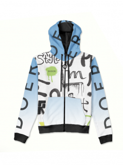 Blue hoodie with print MySimplicated