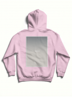 Pink cotton hoodie with back print MySimplicated