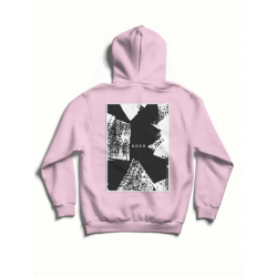 Pink cotton hoodie with print MySimplicated