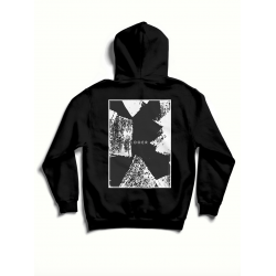 Black oversized cotton hoodie with print MySimplicated