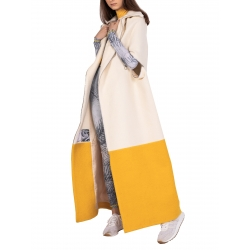 Pelerina din lana in doua culori Diana Marin