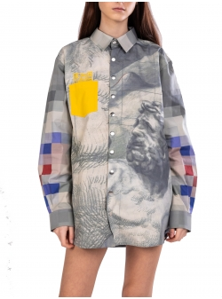 Oversized shirt with print Diana Marin
