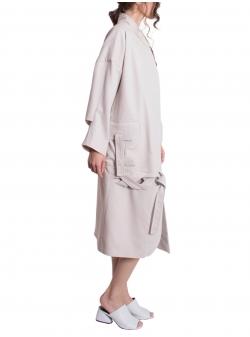 Jacheta lunga din denim cu buzunare aplicate Constantine - Renakossy