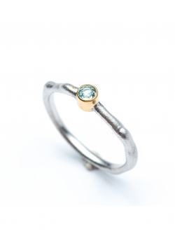 Delicate ring with stone Drop Most Precious