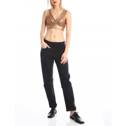 Metallic crop top Silvia Serban