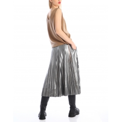 Fusta plisata argintie Silvia Serban