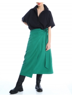 Overlayed green skirt Silvia Serban