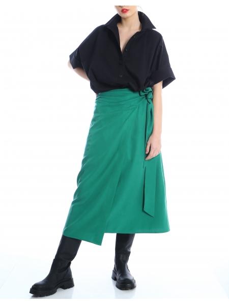 Fusta verde petrecuta Silvia Serban