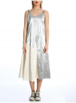 Rochie argintie cu bretele ajustabile Silvia Serban