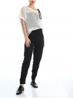 Black tencel trousers Silvia Serban