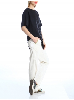 White viscose trousers Silvia Serban