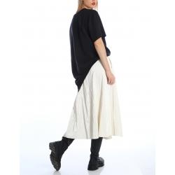 Black asymmetric t-shirt Silvia Serban