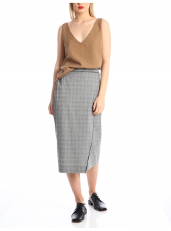 Midi checked skirt Silvia Serban
