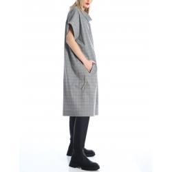 Oversized checked dress Silvia Serban