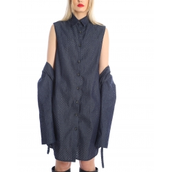 Rochie/jacheta din denim perforat Silvia Serban