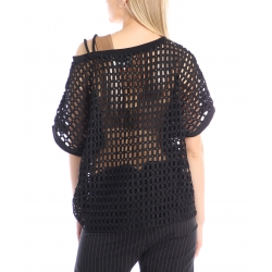 Black net shirt SIlvia Serban