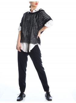 Black net shirt SIlvia Serban