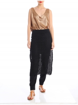 Black midi net skirt Silvia Serban