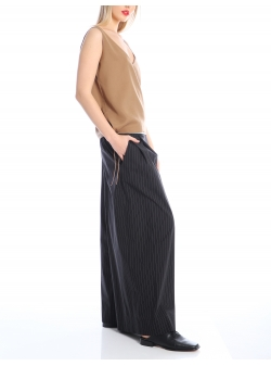 Striped flared trousers Silvia Serban