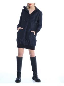 Navy taffeta hoodie dress Silvia Serban