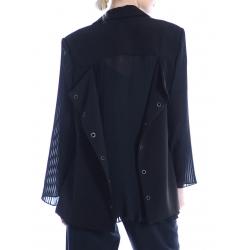 Black jacket with pleated details Silvia Serban