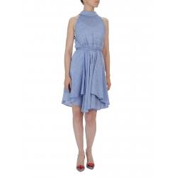 Rochie midi albastra cu cordon