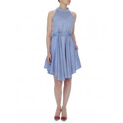 Rochie midi albastra cu cordon Larisa Dragna