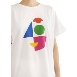 White oversized tshirt Alf Daring Trash