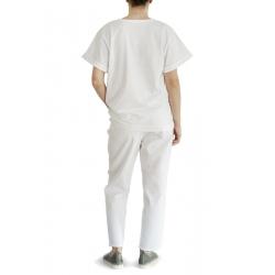 White cotton tshirt Oslo Daring Trash