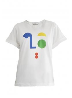 Tricou alb din bumbac Oslo Daring Trash