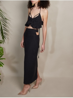 Long black skirt with cuts Fiona Concepto