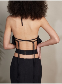 Black top with frills Soni Concepto