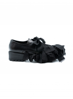 Pantofi din piele naturala cu aplicatii Slit Shoes Meekee