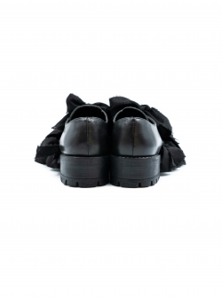 Black leather shoes Slit Shoes Meekee