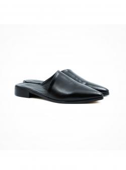 Black leather mules Tip Meekee